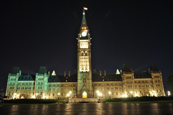 Parliament of Canada at Night