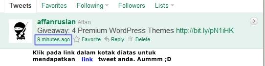 Tweet Status Link