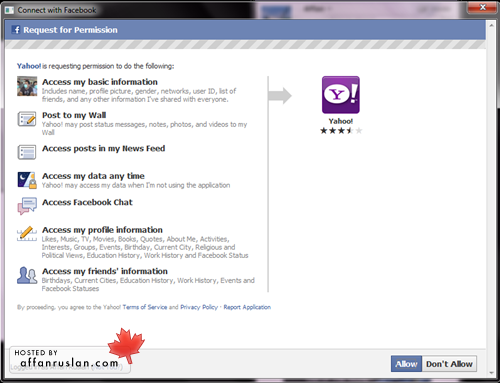 Facebook Chatting in Yahoo Messanger