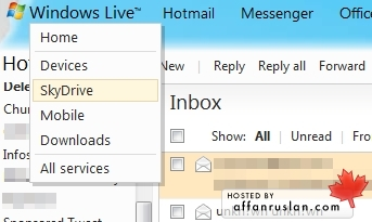 skydrive hotmail